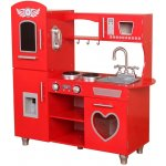 TOP 2. - Bino kuchyňka dřevěná červená
