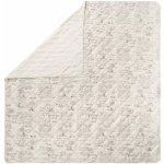 TOP 1. - Meradiso přehoz na postel Oboustranný béžová šedá popisky 250 x 260 cm</p>