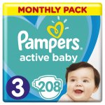 TOP 5. - Pampers Active Baby-Dry 3 Midi 5-9 kg 208 ks