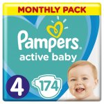 TOP 4. - Pampers Active Baby-Dry 4 Maxi 8-14 kg 174 ks
