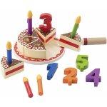 TOP 5. - PLAYTIVE JUNIOR Dřevěné potraviny narozeninový dort</p>