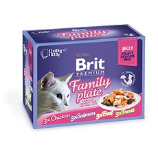 Brit Premium Cat Delicate Fillets in Jelly Family Plate 1020 g (12 × 85 g)
