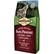 Carnilove duck & pheasant for adult cats – hairball control 6kg