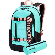 Meatfly Basejumper 6 Backpack, Heather Mint