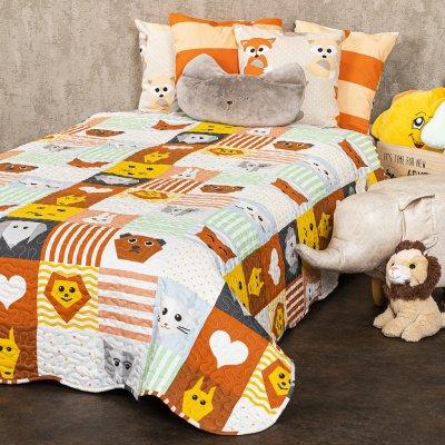 TOP 1. - 4Home přehoz na postel Dětský Patchwork 140 x 200 cm