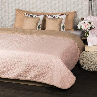 TOP 4. - 4Home prehoz na postel Doubleface béžová/růžová 220 x 240 cm, 40 x 40 cm