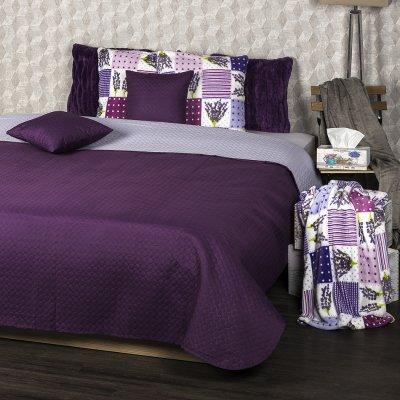 TOP 2. - 4Home prehoz na postel Doubleface fialová/světle fialová 220 x 240 cm, 40 x 40 cm