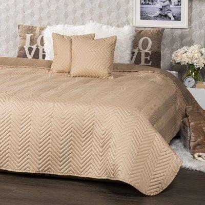TOP 5. - 4Home prehoz na postel Doubleface světle hnědá/hnědá 220 x 240 cm, 40 x 40 cm