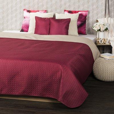 TOP 3. - 4Home prehoz na postel Doubleface vínová/béžová 220 x 240 cm, 40 x 40 cm
