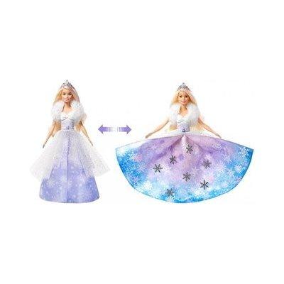 TOP 3. - Barbie Dreamtopia panenka sněhová princezna s proměnou