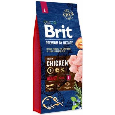 TOP 1. - Brit Premium by Nature Adult L 15 kg