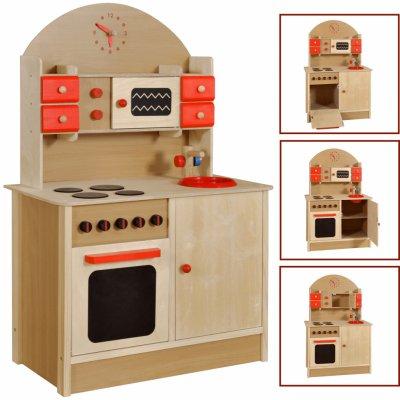 TOP 1. - Drewmax kuchyňka dřevěná z masivního buku AD266 67x37x100 cm