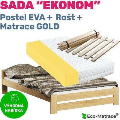 TOP 3. - ECOMATRACE Set EKONOM postel Eva rošt a matrace Gold 15