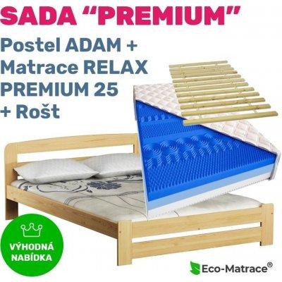 TOP 5. - ECOMATRACE Set PREMIUM 25 postel ADAM rošt a matrace RELAX PREMIUM 25 cm