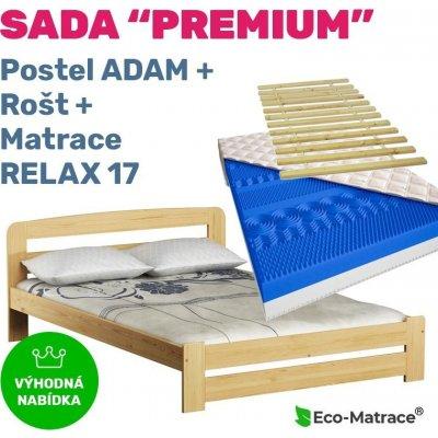 TOP 5. - ECOMATRACE Set PREMIUM postel ADAM rošt a matrace RELAX 17 cm