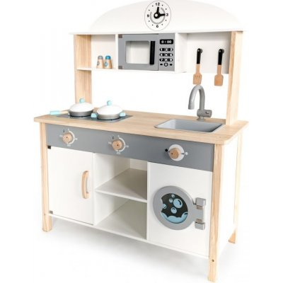 TOP 5. - ECO TOYS dřevěná kuchyňka s příslušenstvím ZVUK SVĚTLO