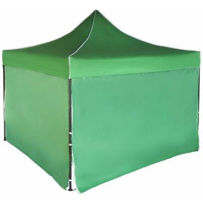 TOP 3. - Expodum Nůžkový stan 3x3m ocelový Zelená 4 boční plachty