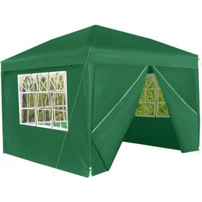 TOP 1. - Malatec 7919 Zahradní párty stan 3 x 3 m + 4 boční stěny zelený