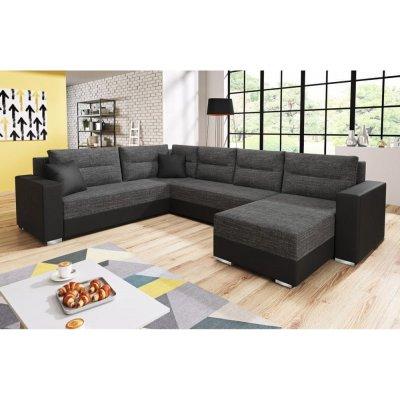 TOP 4. - Nejlevnější nábytek BUNTING U černá látka/černá ekokůže