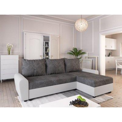 TOP 4. - Nejlevnější nábytek DAKAR tmavě šedá látka/bílá ekokůže