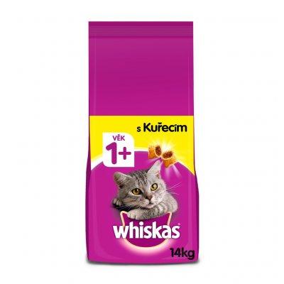 TOP 4. - Whiskas granule s kuřecím pro dospělé kočky 14kg