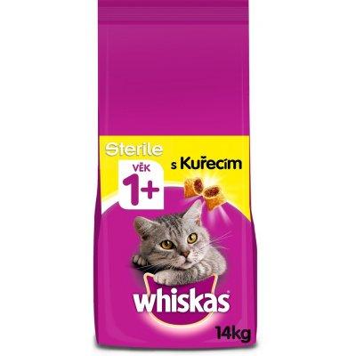 TOP 5. - Whiskas Sterile granule s kuřecím pro kastrované kočky 14 kg