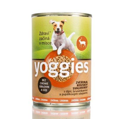 TOP 2. - Yoggies zvěřinová konzerva pro psy s dýní a pupálkovým olejem 400 g