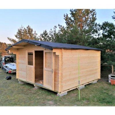 TOP 5. - Zahradní domek Sotra PALOMA 4x4 14.4 m², přírodní borovice/smrk