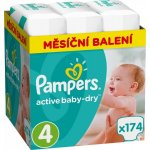 TOP 4. - Pampers Active Baby 4 MAXI 8-14 kg 174 ks