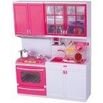 TOP 1. - Torch KA1111 Detská plastová kuchynka s príslušenstvom pre dievčatá bieloružová