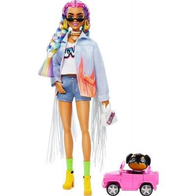 TOP 2. - Barbie Extra v džínsovej bunde so strapcami