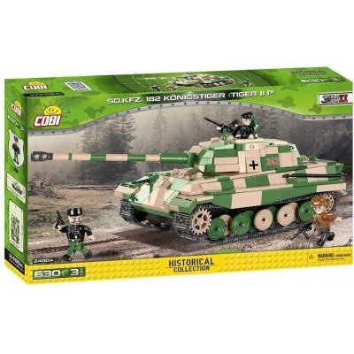 TOP 4. - COBI 2480A World War II Tank SD.KFZ. 182 KÖNIGSTIGER (Tiger II P)
