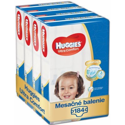 TOP 3. - HUGGIES Ultra Comfort Jumbo 4+ 10-16 kg 184 ks