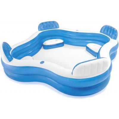 TOP 4. - Intex 56475 Family Lounge Pool 229 x 229 x 66 cm
