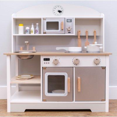 TOP 2. - Kitchen with clock drevená kuchynka Lucy s príslušenstvom
