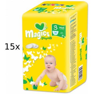 TOP 1. - Magics Easysoft Midi 4-9 kg Multipack 210 ks