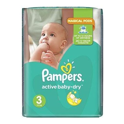 TOP 4. - Pampers Active Baby 3 Midi 5-9 kg 208 ks